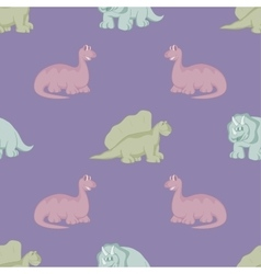 Funny dinosaurs seamless background vector