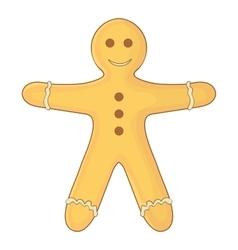 Gingerbread man icon cartoon style vector