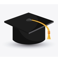 Graduation cap cloth accesory design vector