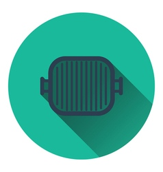 Grill pan icon vector image vector image
