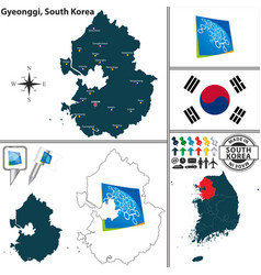 gyeonggi province south korea vector image vector image