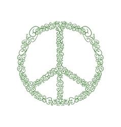 Hippie circle icon love and peace design vector