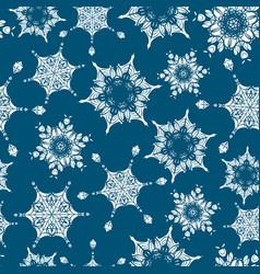 Holiday navy blue hand drawn christmass vector