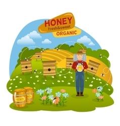 Honey Concept vector image vector image