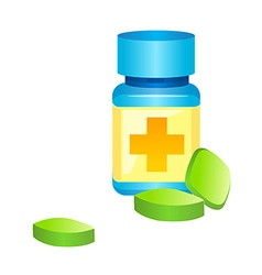 icon pill bottle vector image vector image