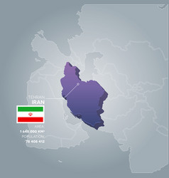 Iran information map vector