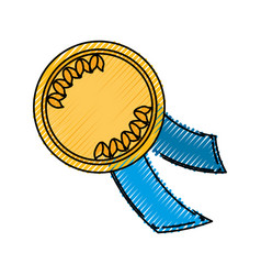 isolated champion medal vector image