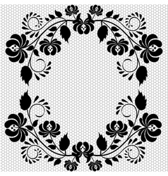 lace frame with flower vector image vector image