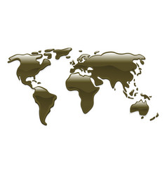 Liquid oil world map vector