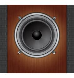 Loud speaker on a wood background vector