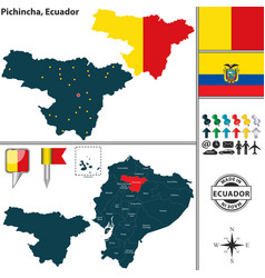 map of pichincha ecuador vector image vector image
