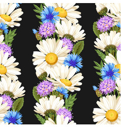 meadow flowers seamless vector image vector image