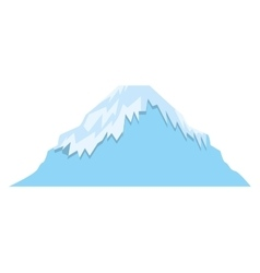Mount fuji asian isolated icon vector