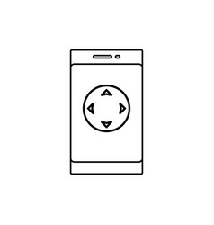 movement button on smartphone icon vector image vector image