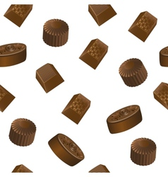 Realistic chololate candy pattern vector