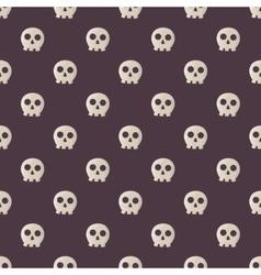 Seamless halloween pattern with skulls vector image
