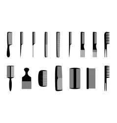 Set of combs vector