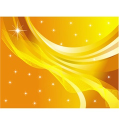 star abstraction on a yellow background vector image vector image