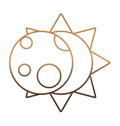 sun and moon icon vector image vector image