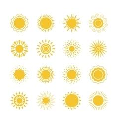 Sun icons collection vector