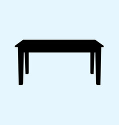 Table isolated on ligth blue vector