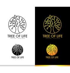 Tree logo concept monogram vector