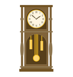 Vintage grandfather pendulum clock vector