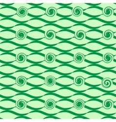 Wave green seamless pattern vector image vector image
