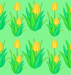 yellow tulip seamless pattern vector image vector image