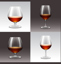 Set of wine glasses on background vector