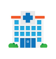 Hospital building medical icon vector