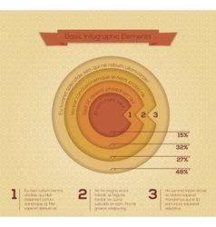 Modern business circle infographics banner vector image