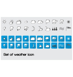Set of weather icon vector