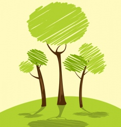 Landscape trees vector