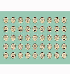 Collection of emotion face smile vector