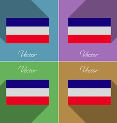 Flags los altos set of colors flat design and long vector