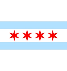 Chicago flag vector image