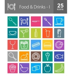Food and drinks vector