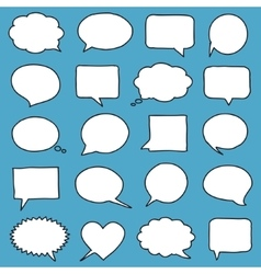Hand-drawn speech bubbles vector