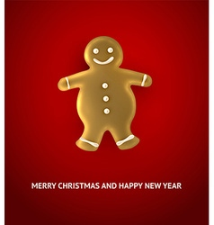Gingerbread man christmas background vector
