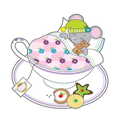 Teacup mouse vector