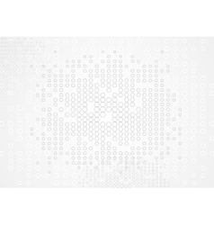 Abstract tech hexagons texture vector