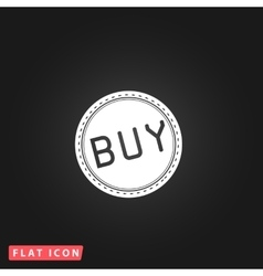 Buy badge flat icon vector