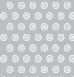 Silver coin pattern vector