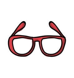 Glasses drawing isolated icon design vector