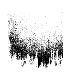 Black white grunge background like brush strokes vector