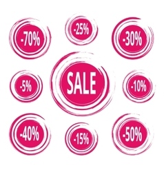 Abstract paint stains sale and discounts badges vector