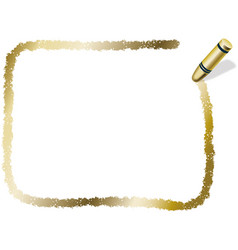 a gold crayon message frame vector image
