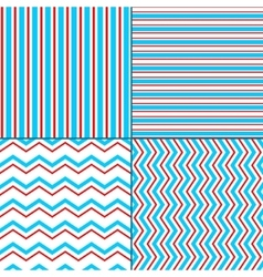 Abstract geometric chevron and stripes seamless vector image vector image