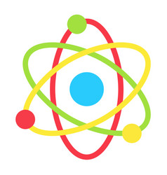 atom flat icon education and physics vector image vector image